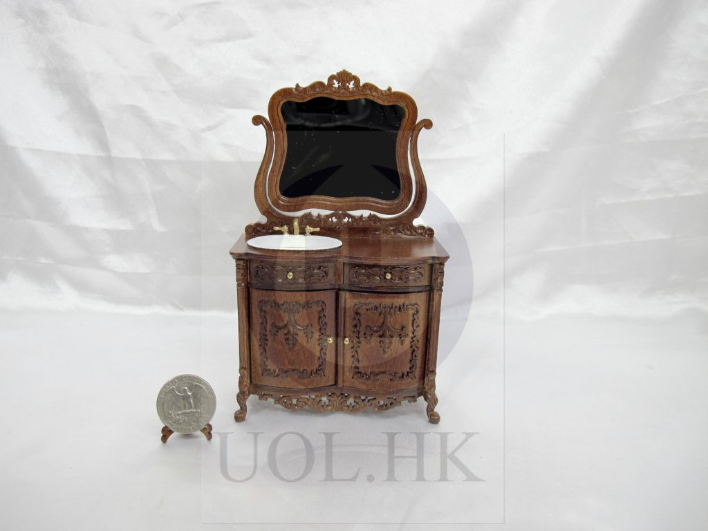 1:12 Scale Miniature Bathroom Vanity For Doll House