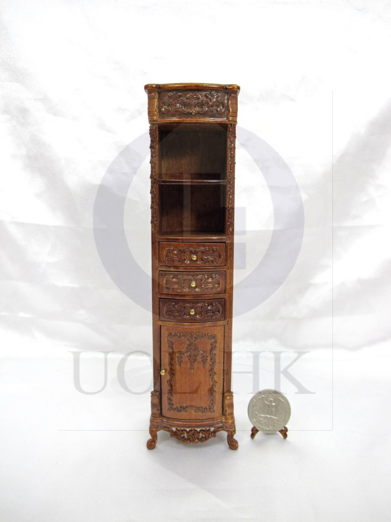 1:12 Scale Victorian Style High Cabinet For Doll House