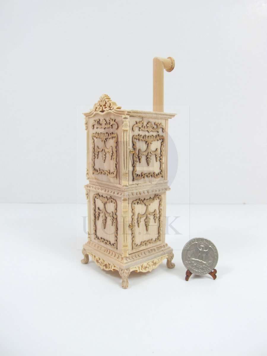 1:12 Scale Miniature Victorian Carved Stove For Doll House[UF]