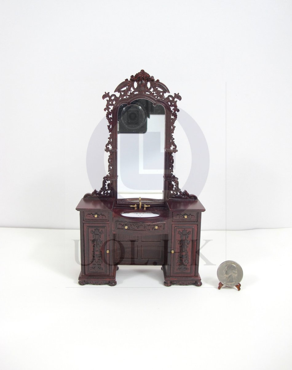 "1:12 Scale ""The Eugene"" Barber Sink Cabinet For Doll House[MH]"