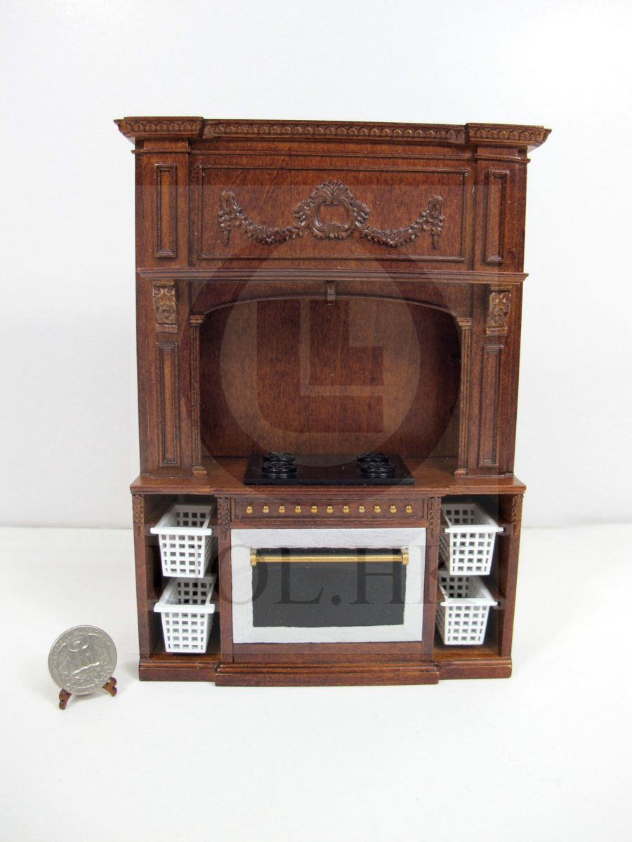 Miniature 1:12 Scale French Provincial Glamorous Stove Cabinet