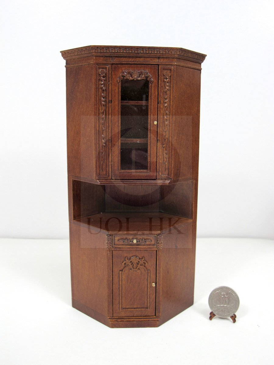 1:12 Scale French Provincial Corner Unit For Doll House[WN]