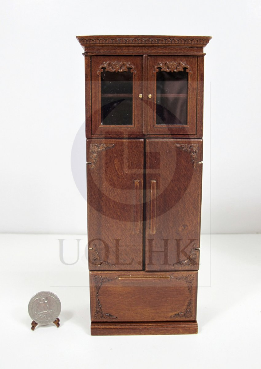 1:12 Scale French Provincial Fridge Cabinet For Doll House [WN]