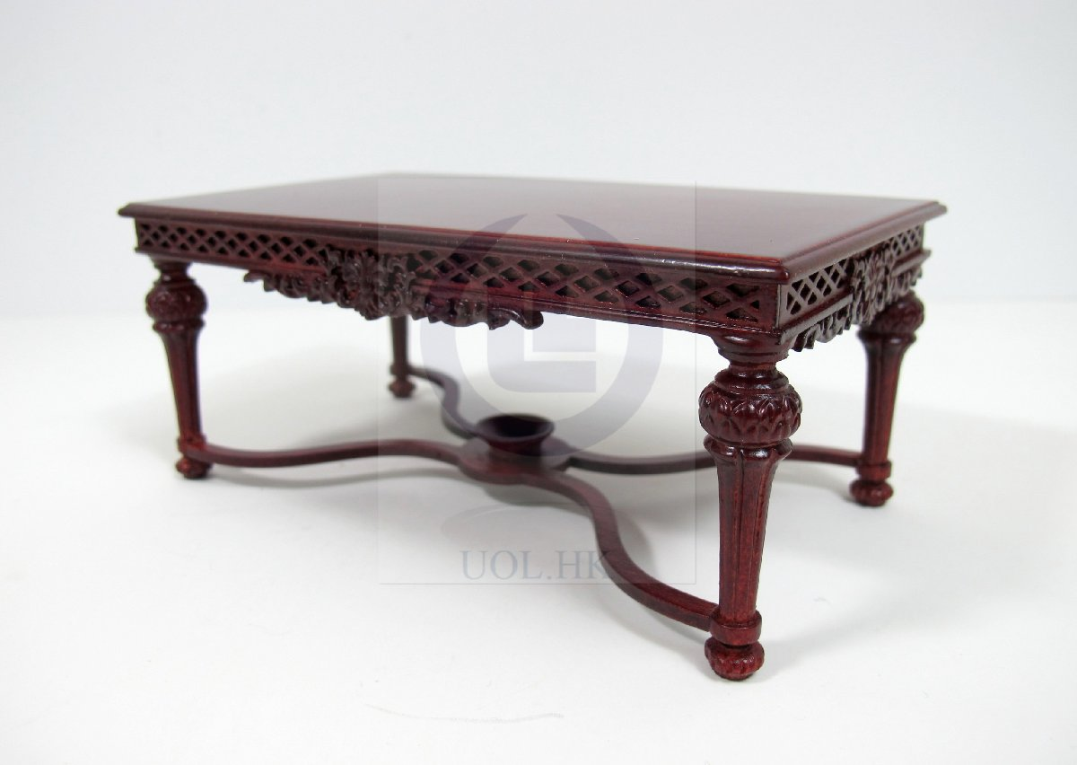 1:12 Scale Miniature Refectory Table For Doll House[Mahogany]
