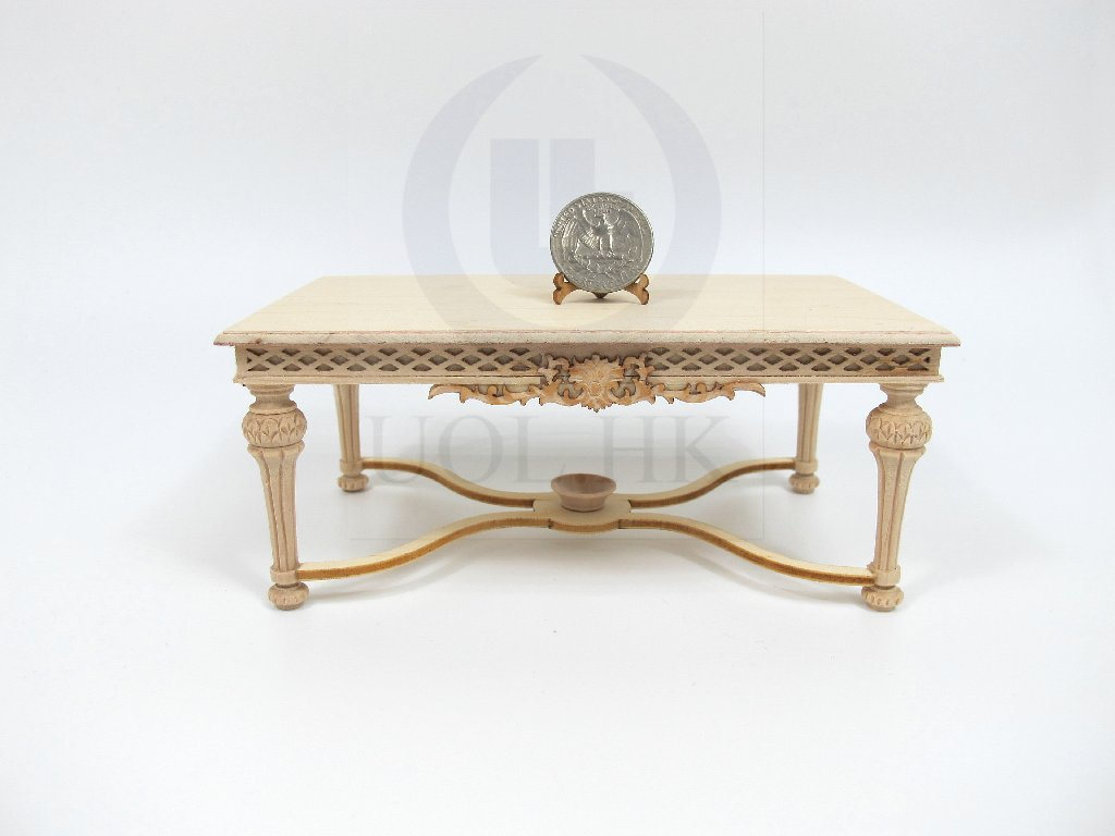 1:12 Scale Miniature Refectory Table For Doll House [UF]