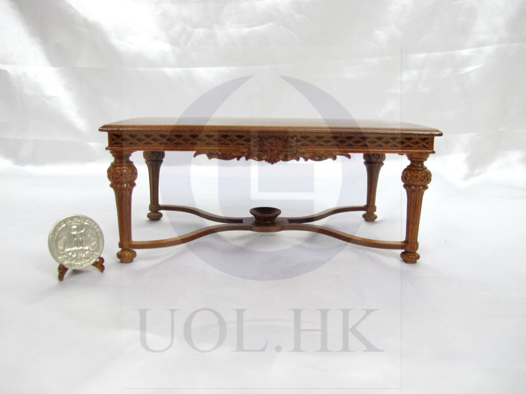 1:12 Scale Miniature Refectory Table For Doll House [WN]
