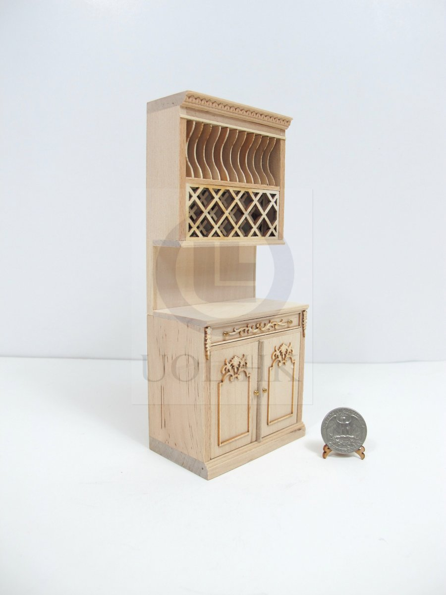 1:12 Scale Miniature French Provincial Plate Rack Cabinet[UF]