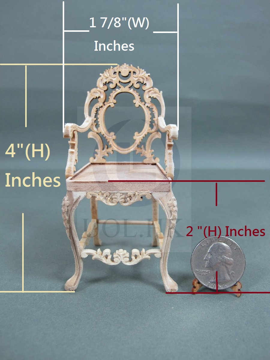"1:12 Scale Miniature The ""Vanessa"" Arm Chair For Doll House [UF]"