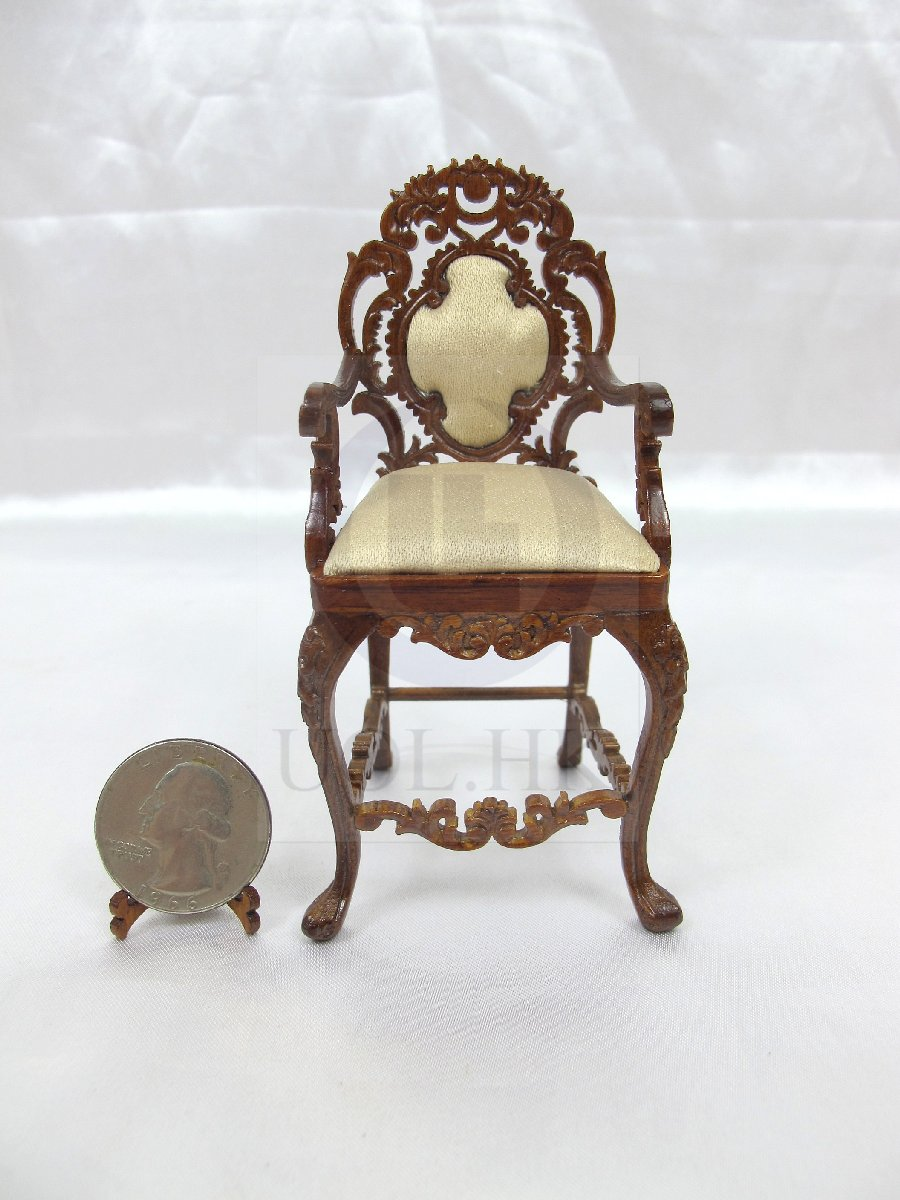 "1:12 Scale Miniature The ""Vanessa"" Arm Chair For Doll House [WN]"