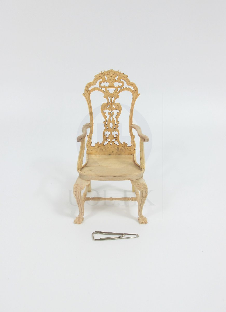 "1:12 Scale The ""ALEXANDER"" Secretaire Chair For Doll House [UF]"