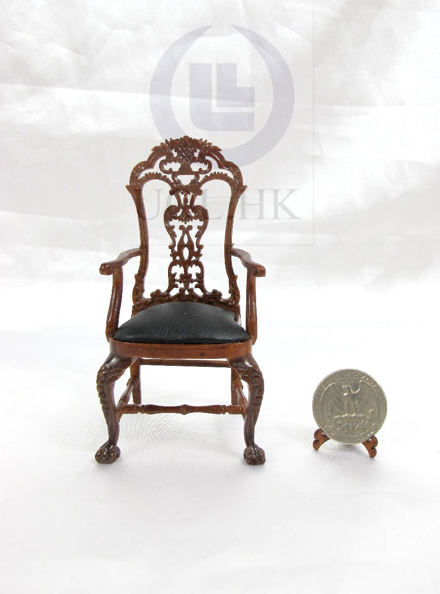 "1:12 Scale The ""ALEXANDER"" Secretaire Chair For Doll House [WN]"