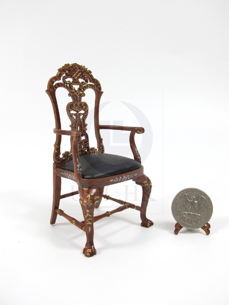 "Handpainted Miniature 1:12Scale The ""ALEXANDER"" Secretaire Chair"
