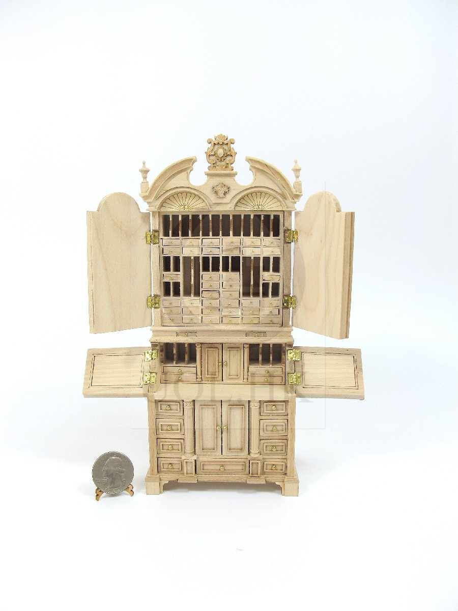 "1:12 Scale The""ALEXANDER"" Secretary For Doll House[Unfinished]"