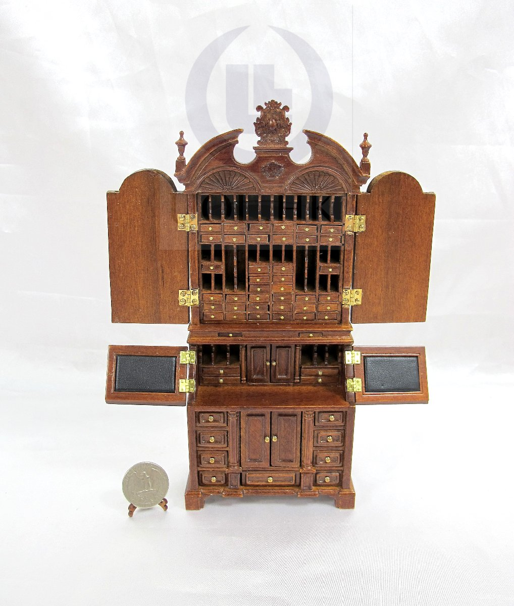 "1:12 Scale The"""" ALEXANDER"" Secretaire For Doll House [WN]"