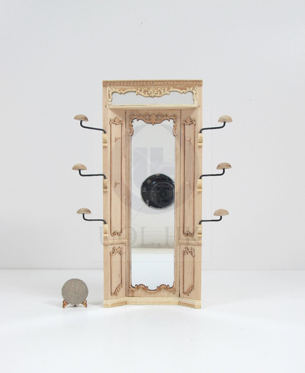 "Miniature 1:12 Scale The ""Adalicia Store"" Mirror Unit-Unfinished"