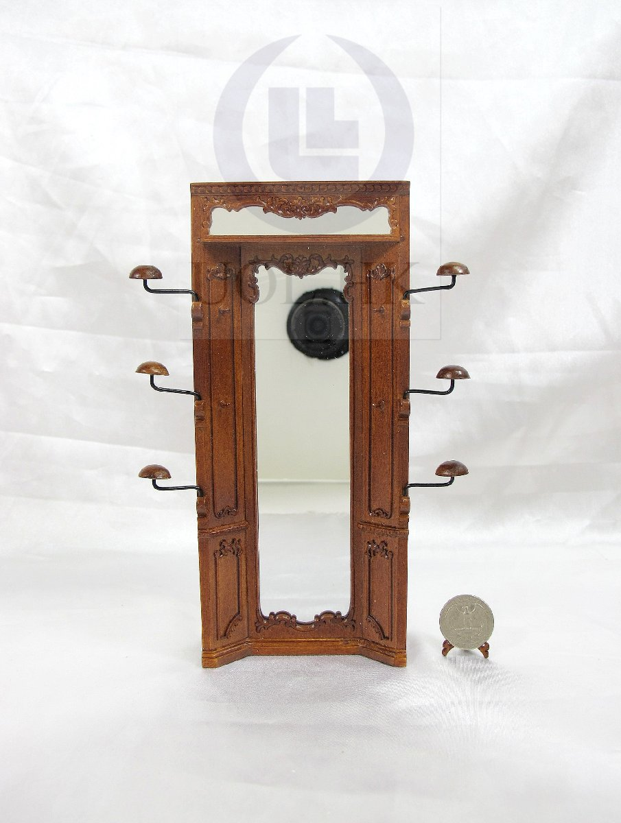 "Miniature 1:12 Scale The ""Adalicia Store"" Mirror Unit [WN]"