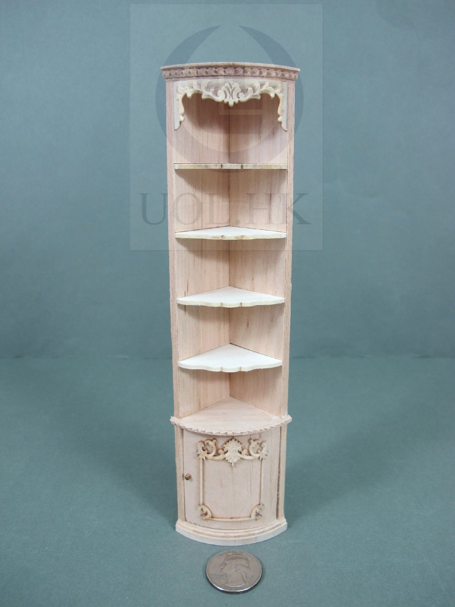 "Miniature 1:12 Scale The ""Adalicia Store "" End Corner Shelf [UF]"