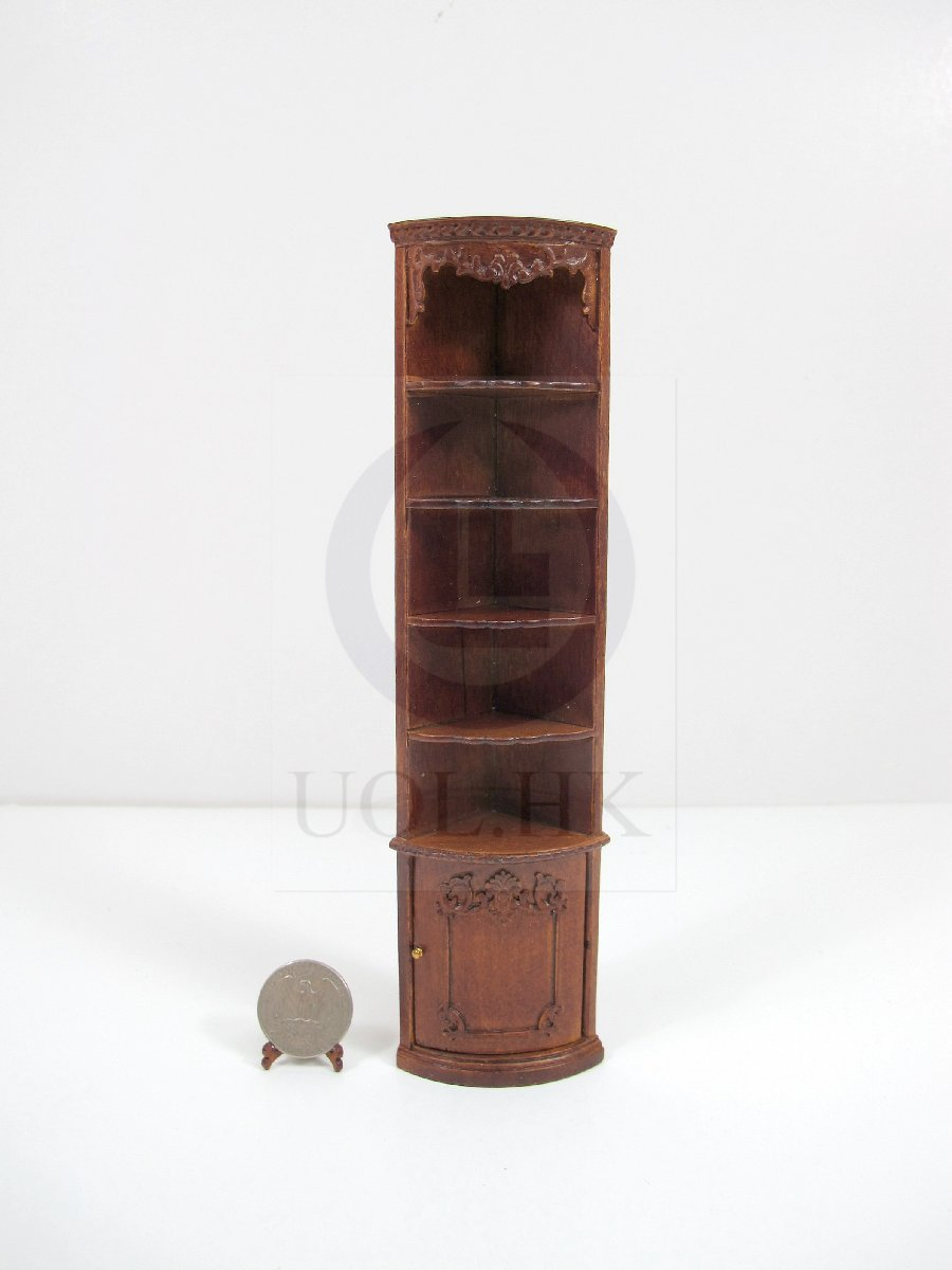 "1:12 Scale Miniature The ""Adalicia Store "" End Corner Shelf [WN]"
