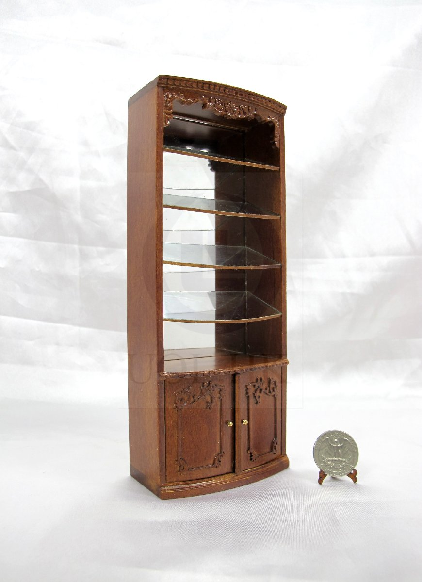 "Miniature 1:12 Scale The ""Adalicia Store"" Slant Display Vitrine"