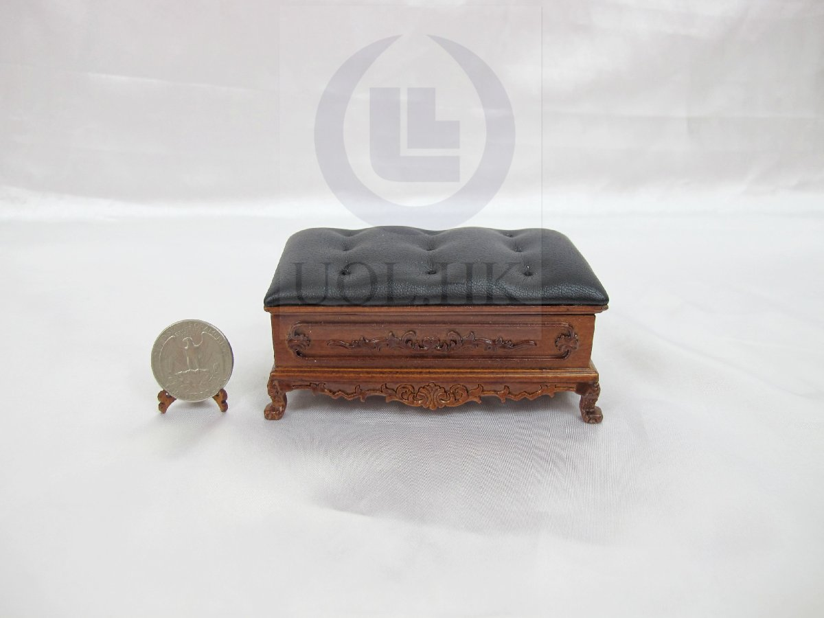"Miniature 1:12 Scale The ""Adalicia"" Ottoman For Dollhouse-WN"