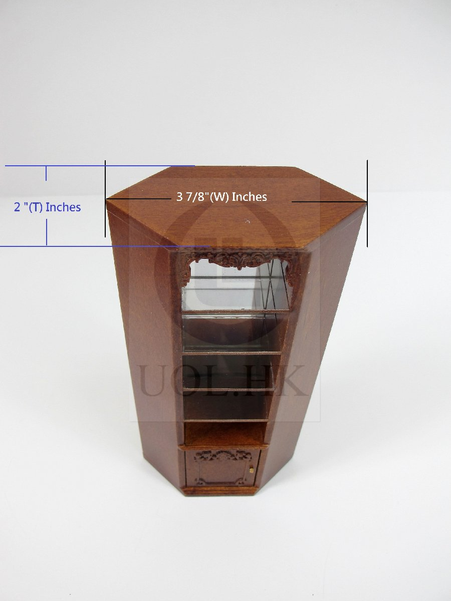 "Miniature 1:12 Scale The ""Adalicia Store"" Corner Cabinet [WN]"