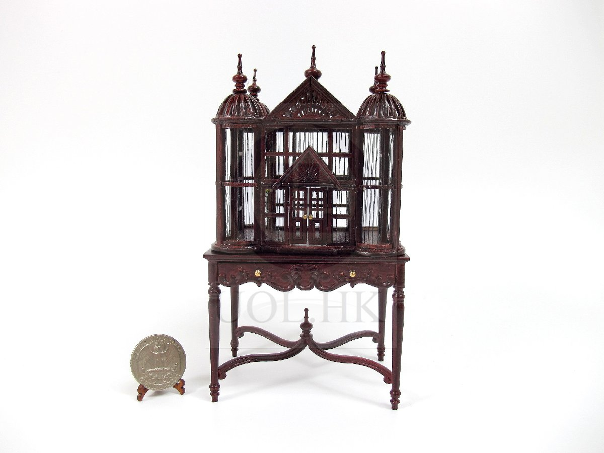 1:12 Scale Miniature Tudor Birdcage/Birdhouse For Doll House[MH]