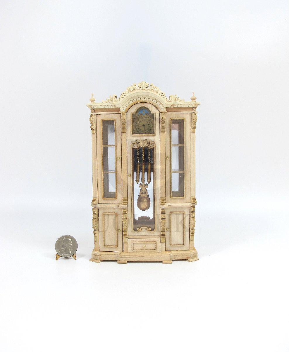 "Miniature Dollhouse 1:12 Scale The ""Refa"" High Clock Cabinet[UF]"