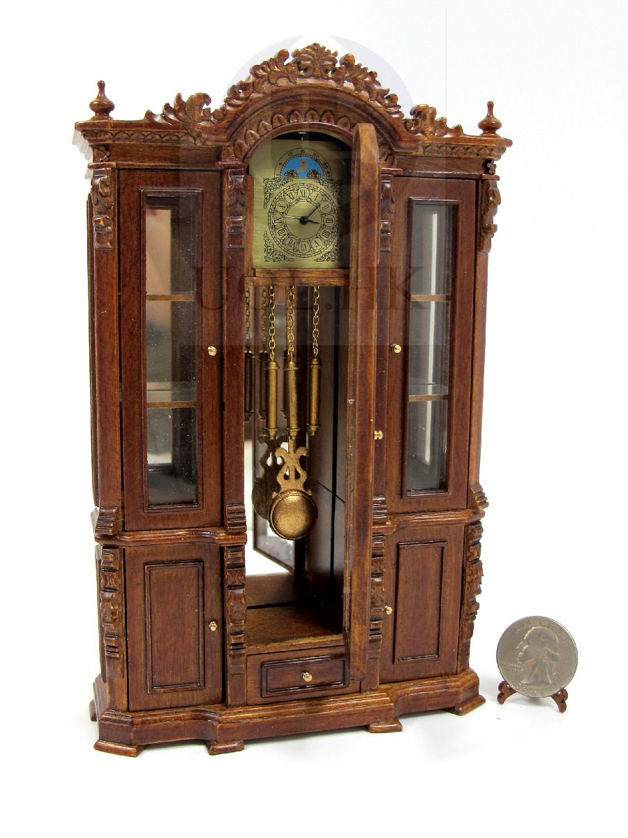 "Miniature Dollhouse 1:12 Scale The ""Refa"" High Clock Cabinet"