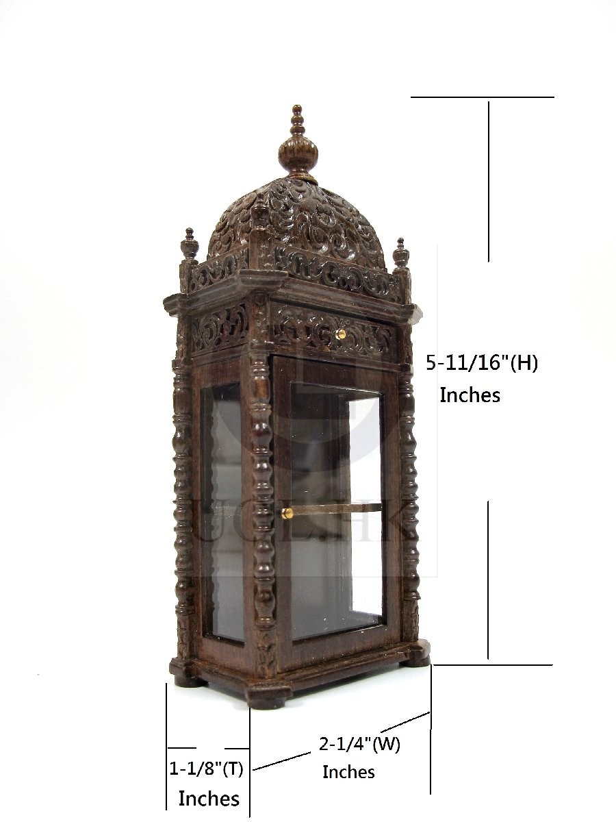 "Doll House Miniature 1:12 Scale The ""Pacho"" Display Cabinet-MW"