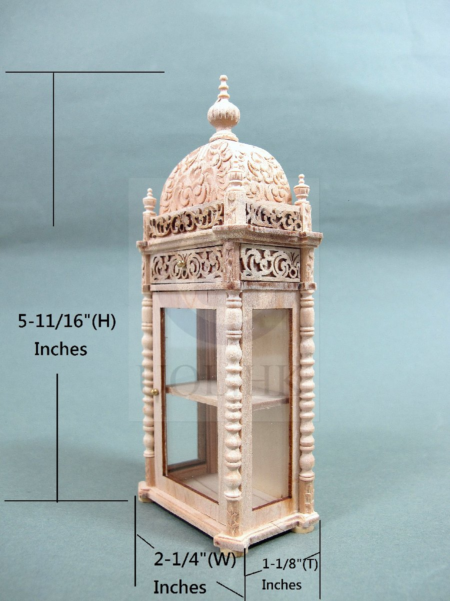 "Doll House Miniature 1:12 Scale The ""Pacho"" display Cabinet-UF"