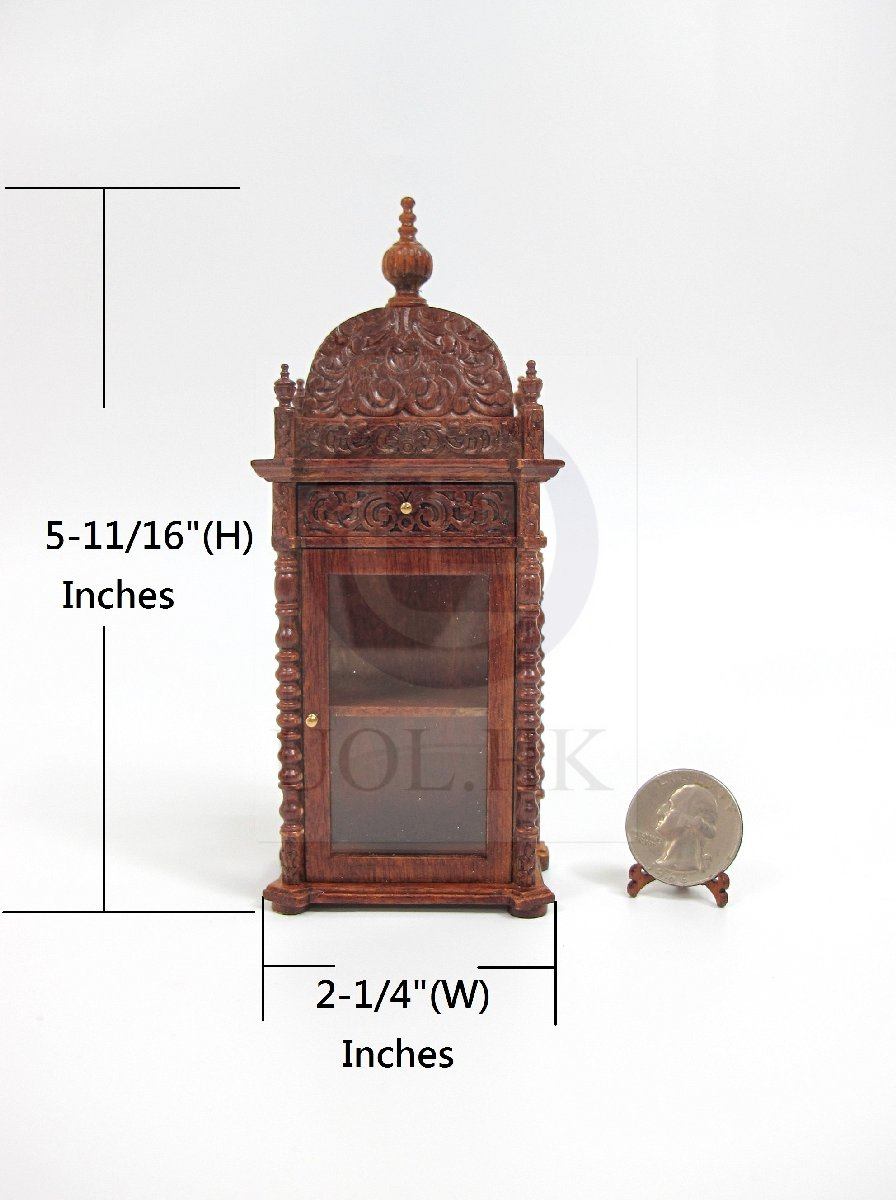 "Doll House Miniature 1:12 Scale The ""Pacho"" Display Cabinet-WN"