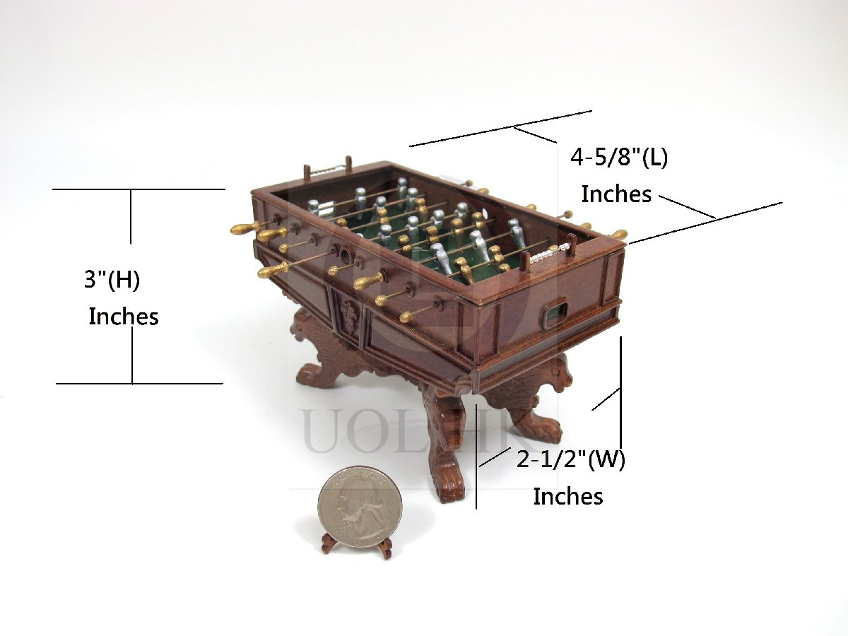 Miniature 1:12 Scale Table Football Game For Doll House