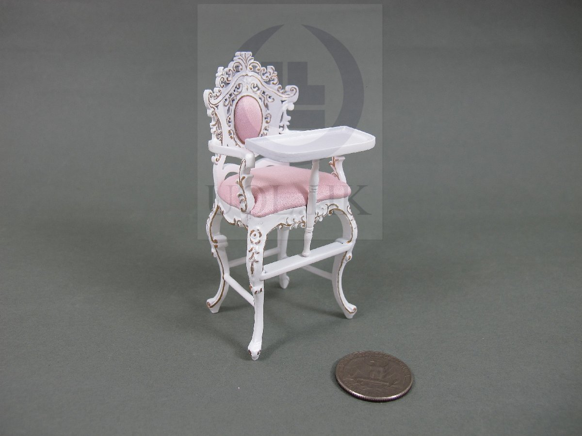 "1:12 Scale Miniature The ""Berit"" High Chair For Doll House [W]"