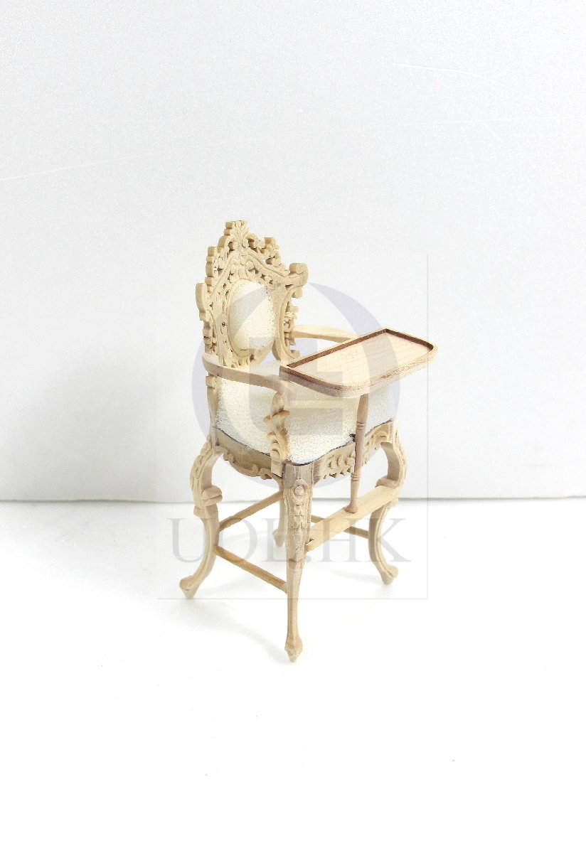 "Doll House 1:12 Scale Miniature The ""Berit"" High Chair [UF]"