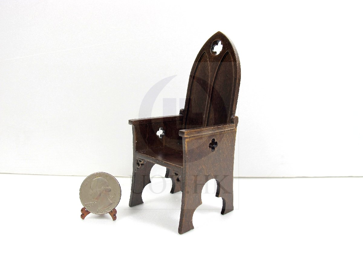 1:12 Scale Miniature Gothic Style Chair For Doll House [MW]