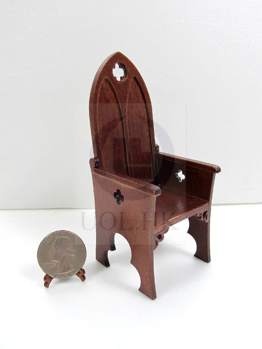 1:12 Scale Miniature Gothic Style Chair For Doll House [WN]
