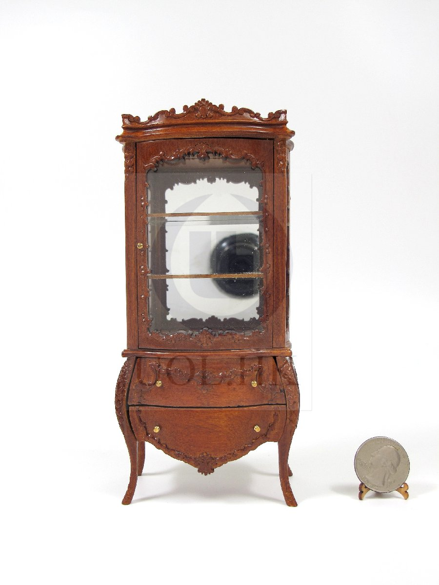 "1:12 Scale The ""Escala"" Display Cabinet For Dollhouse [WN]"