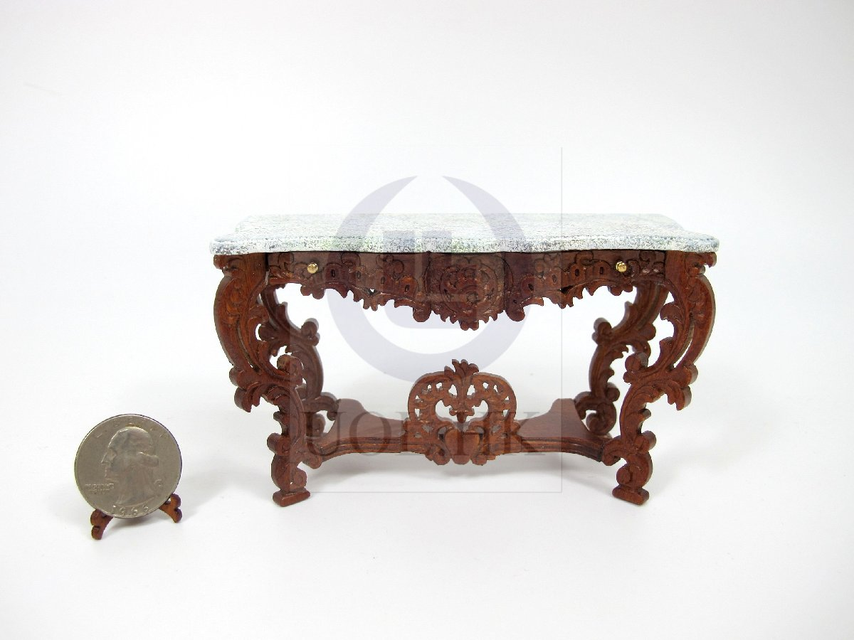 Miniature 1:12 Scale Louis XV Console Table For Dollhouse [WN]