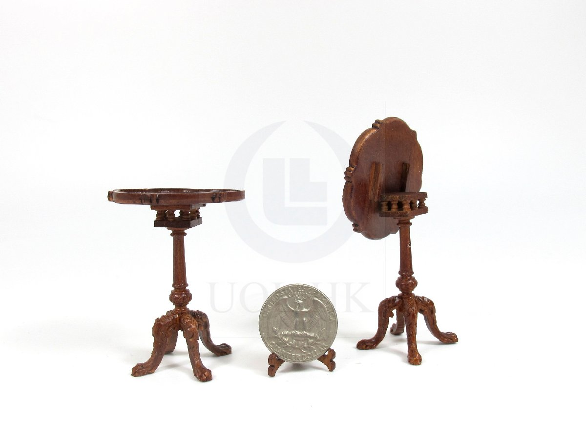 Miniature 1:12 Scale Doll House Tilt Top Tea Table [WN]