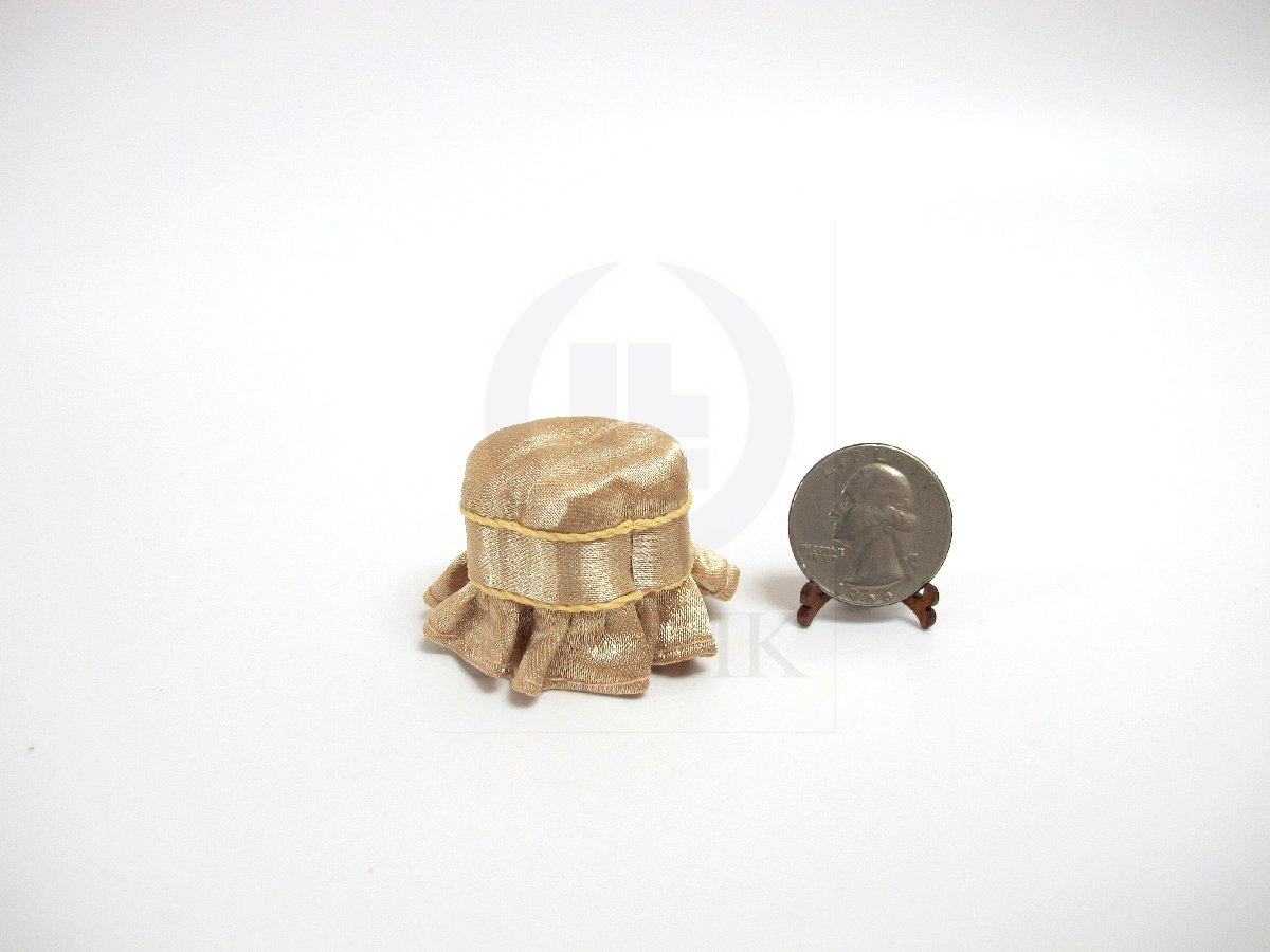"1:12 Scale Miniature The ""Carl"" Footstool For Doll House"