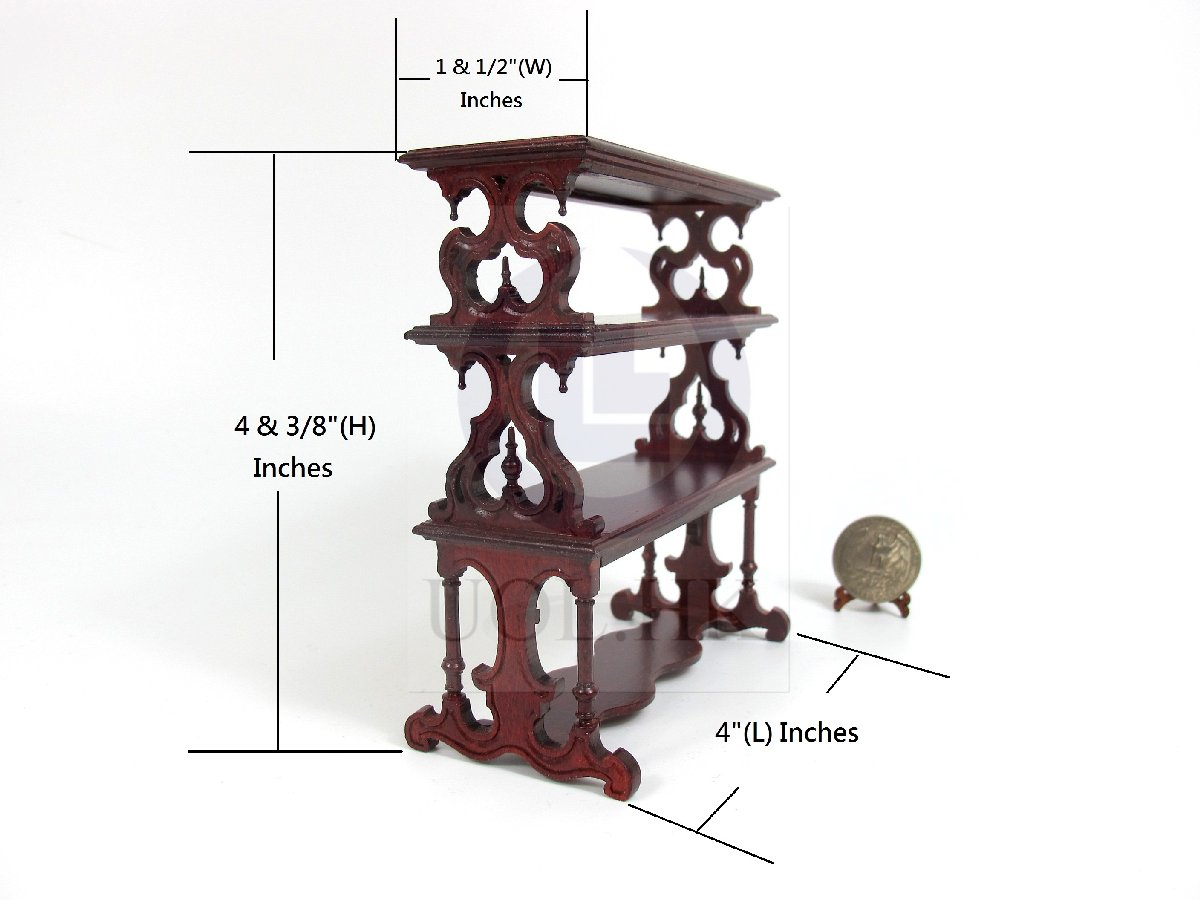1:12 Scale Doll House Victorian Barker&#39s Rack [MH]