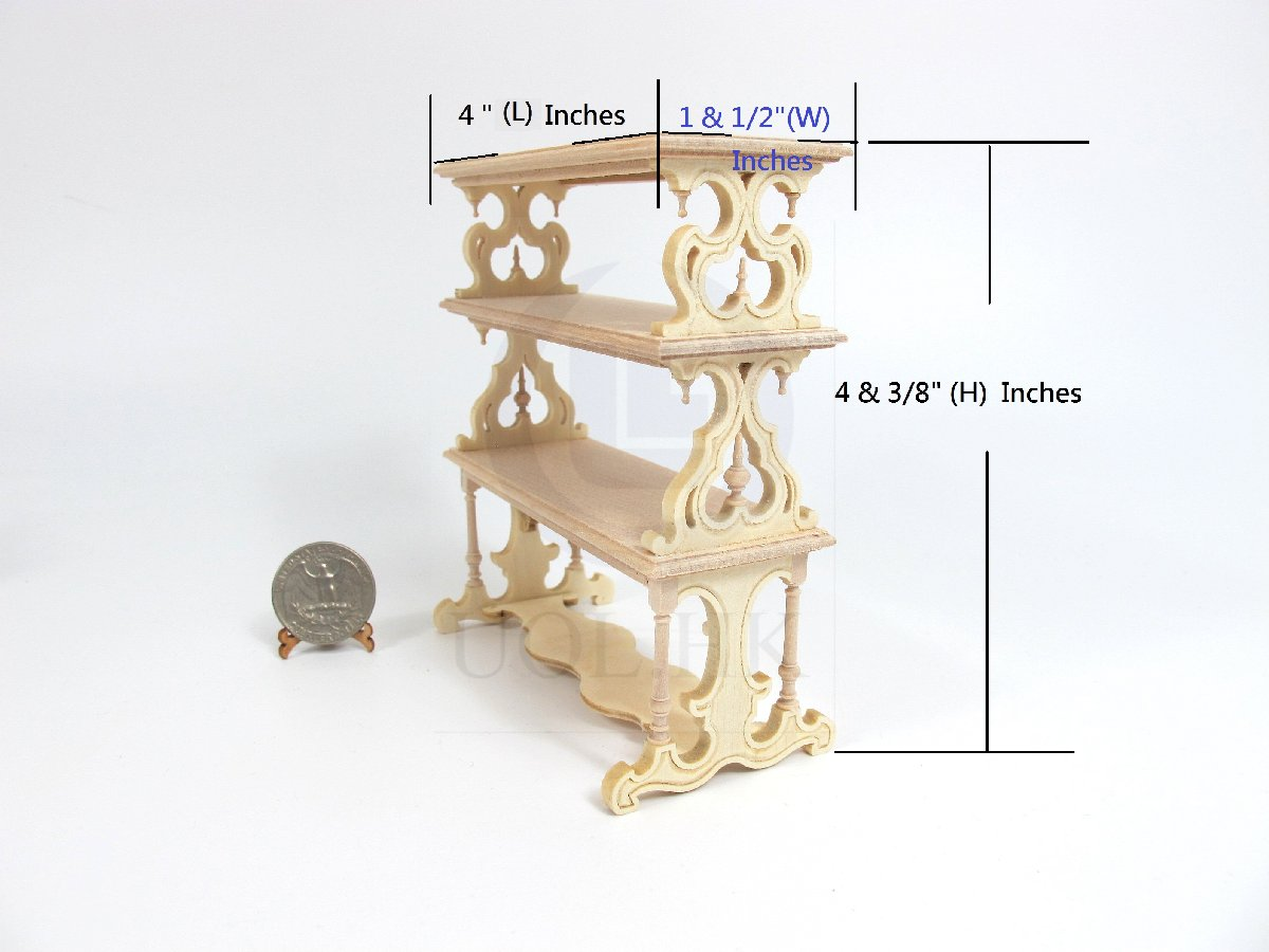 1:12 Scale Doll House Victorian Barker's Rack [Unfinished]