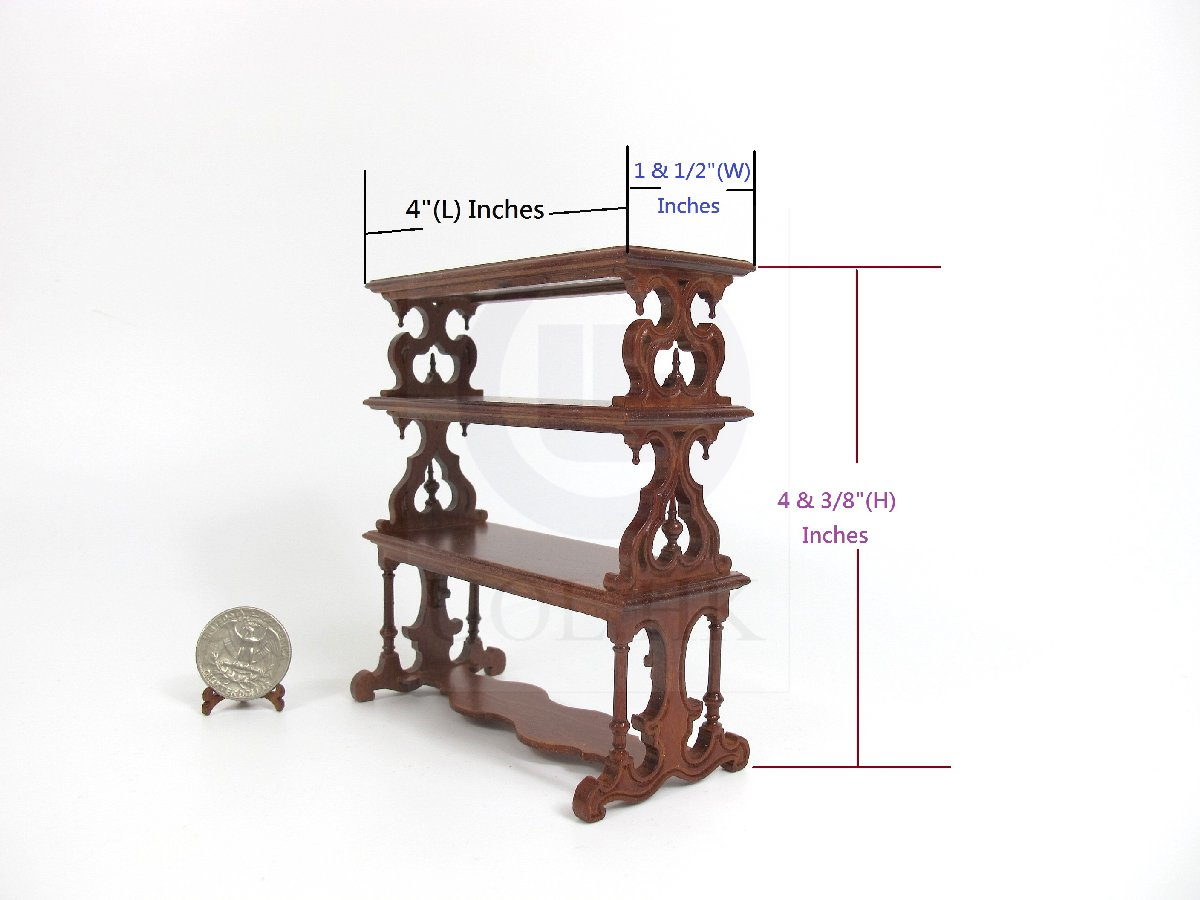 1:12 Scale Doll House Victorian Barker&#39s Rack [WN]