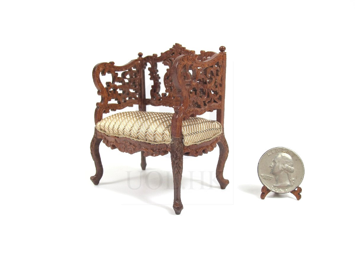 1:12 Scale Louis XVI Ornate Carved Chair For Doll House [WN]