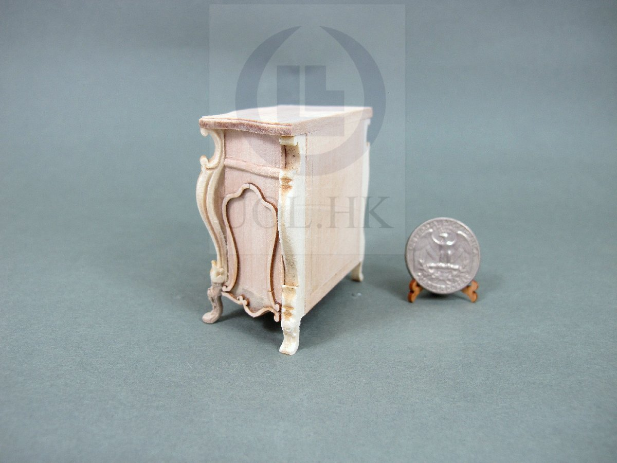 "1:12 Scale Miniature The ""Escala"" Bedside Table For Dollhouse-UF"