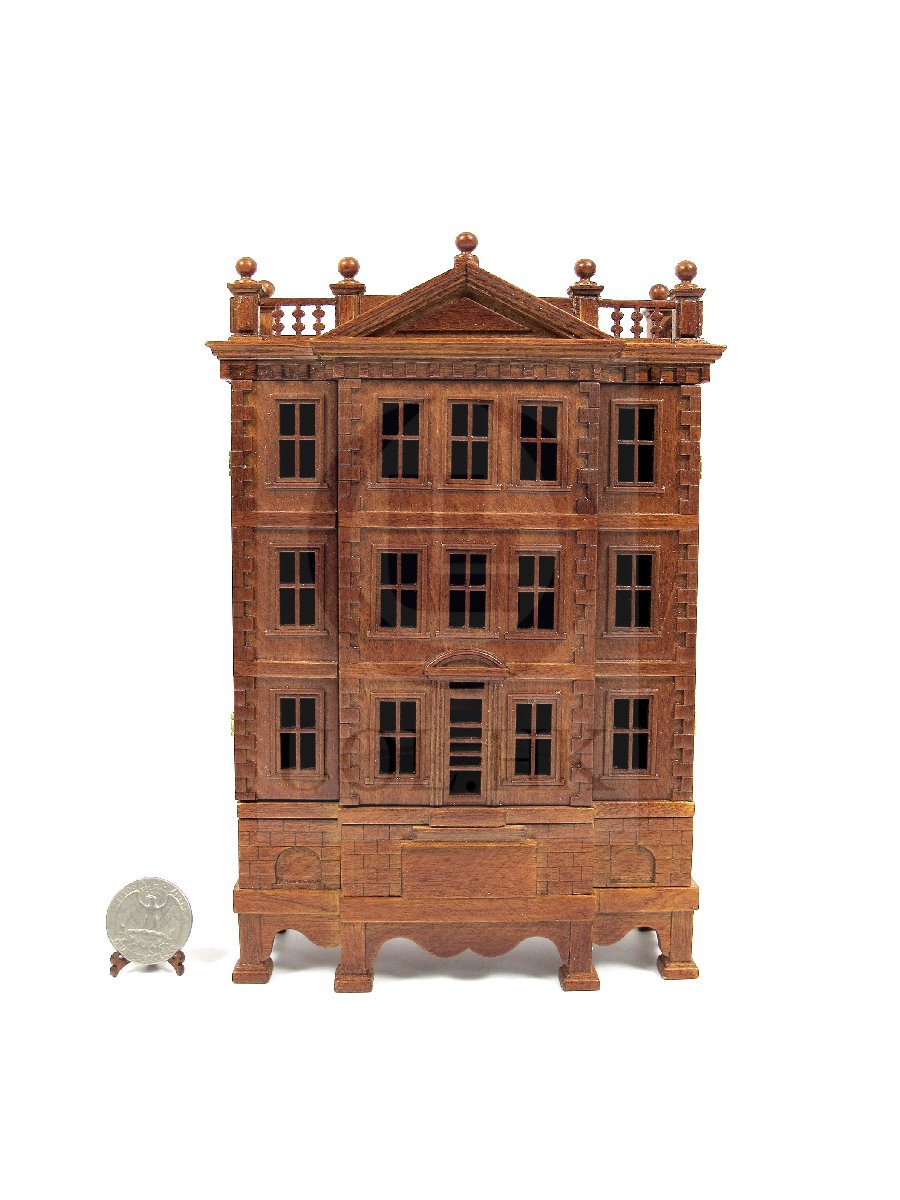 "Miniature Wooden The ""George"" Baby House[Finished in walnut]"