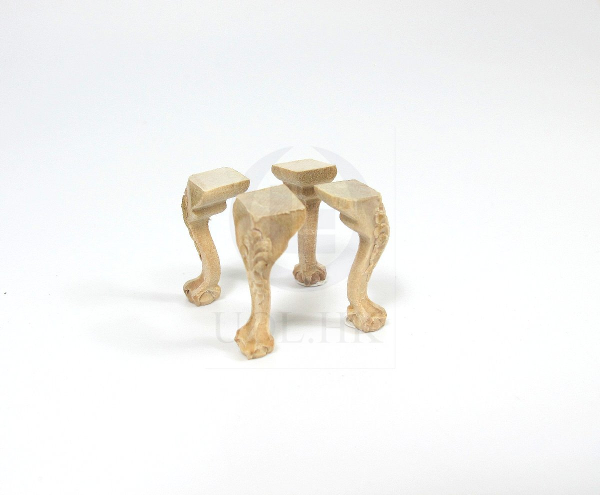 1:12 Miniature Wooden Legs [Unfinished]