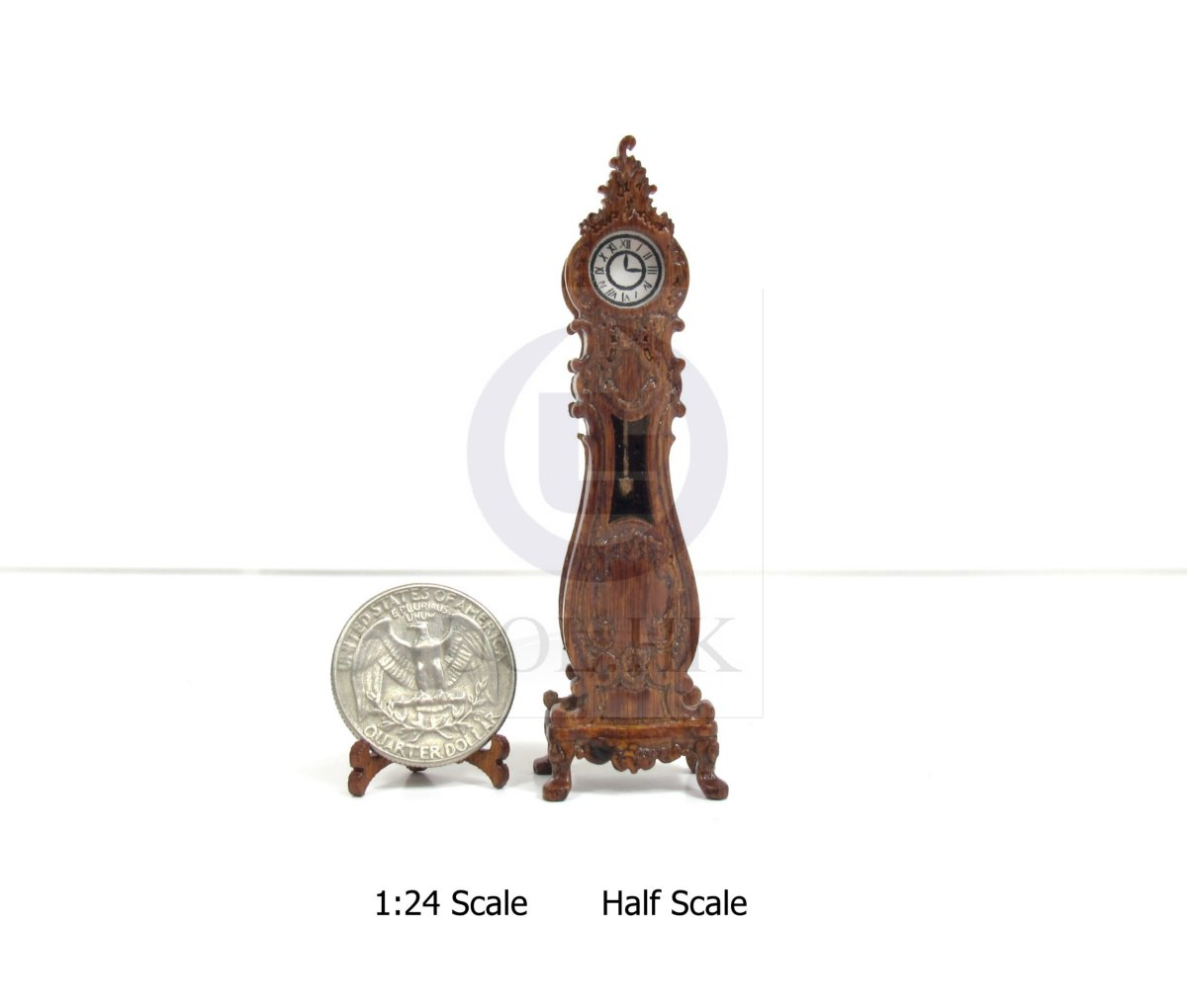 1:24 HALF Scale Luxury Classical French Grandfather Clock [WN]