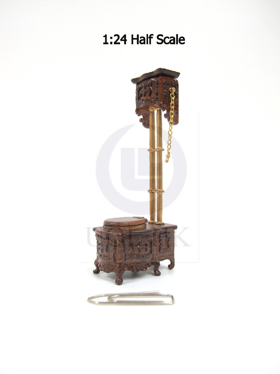 1:24 HALF Scale Miniature Victorian High Water Tank Toilet [WN]