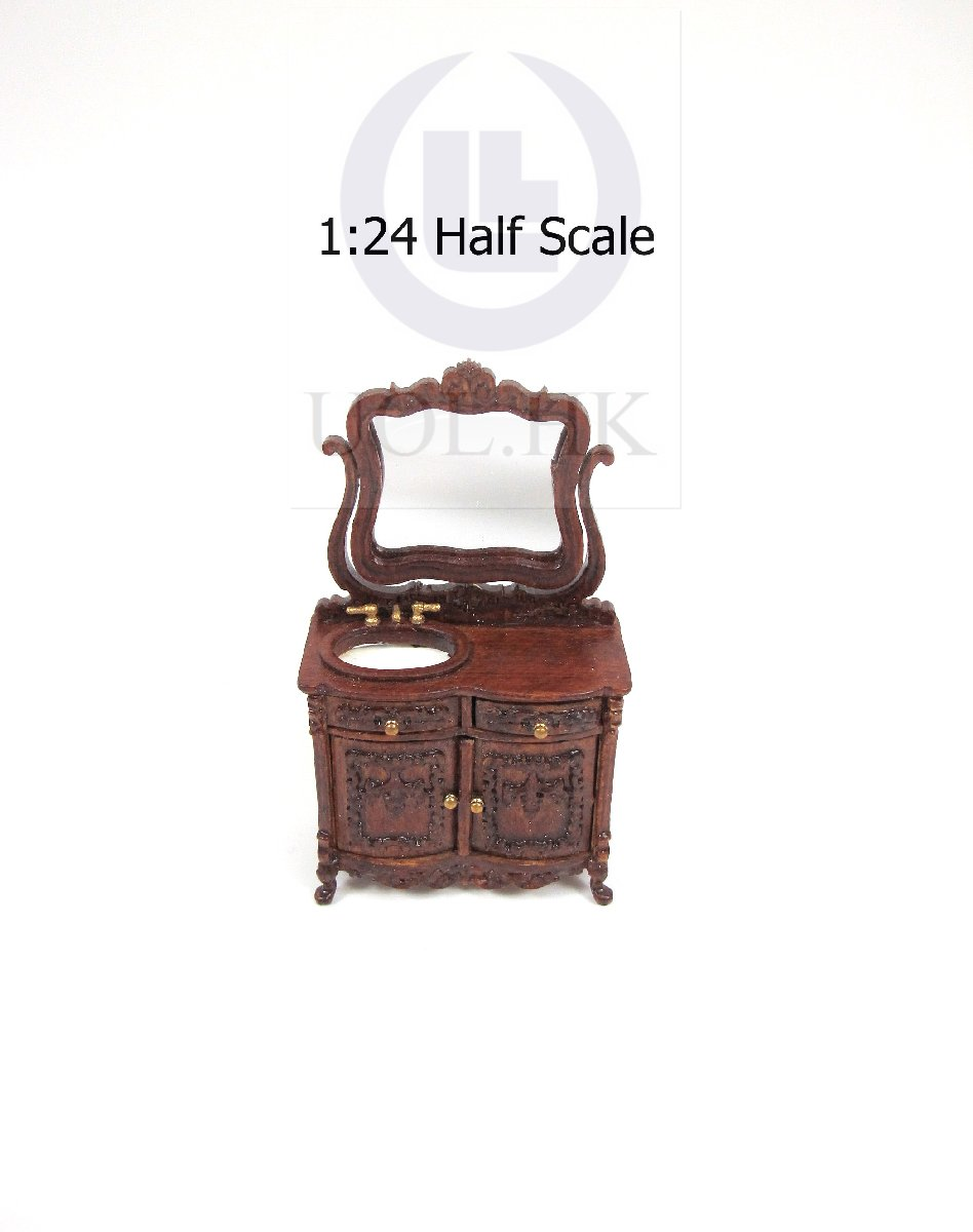 1:24 HALF Scale Miniature Bathroom Vanity For Doll House[WN]